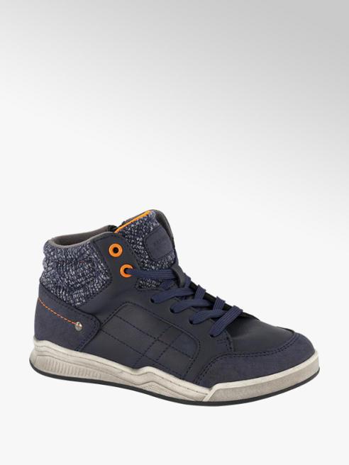Victory Donkerblauwe halfhoge nubuck sneaker