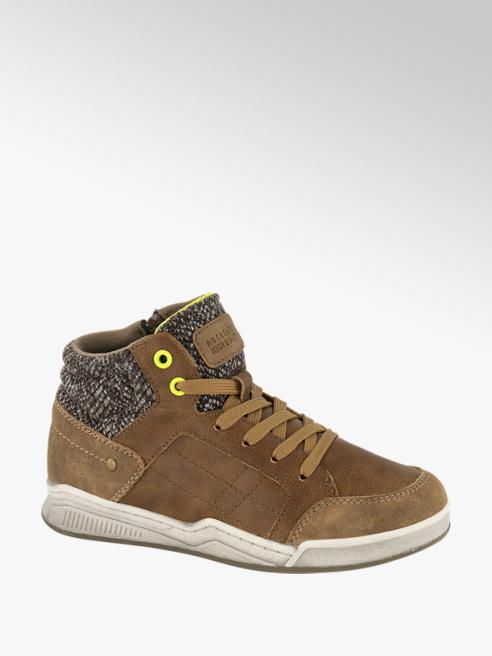 Victory Bruine halfhoge nubuck sneaker