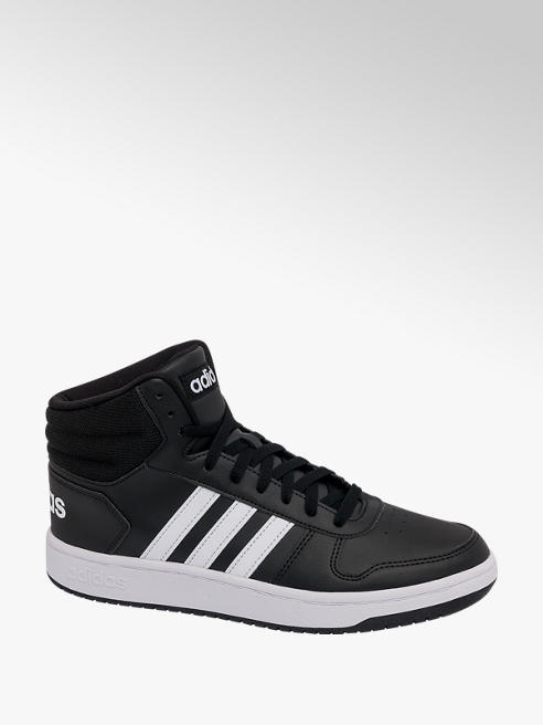adidas Mens Adidas Hoops 2.0 Mid Cut Lace-up Trainers