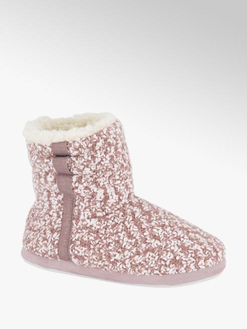 Casa mia Roze pantoffel gebreid