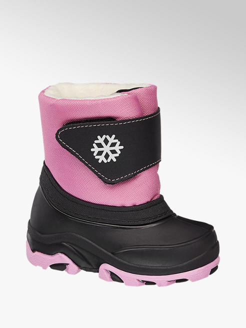 Cortina Zwart/roze snowboot warm gevoerd