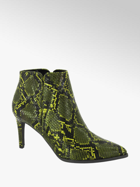 Vero Moda Gele enkellaars slangenprint