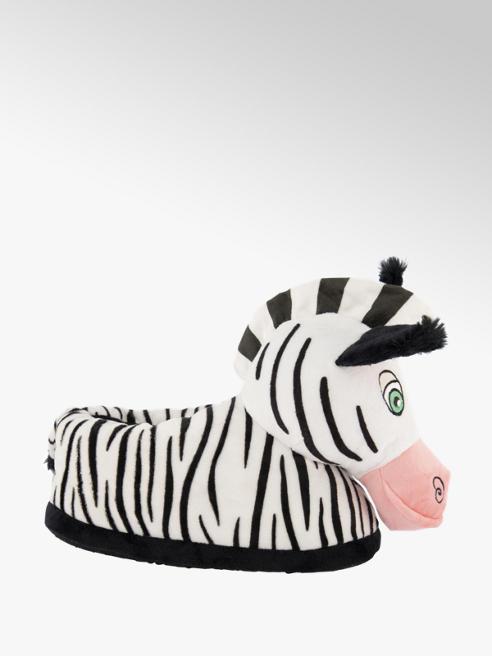 Zwart witte zebra pantoffel