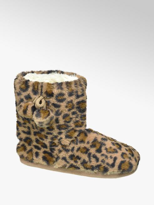 Casa mia Bruine pantoffel leopard