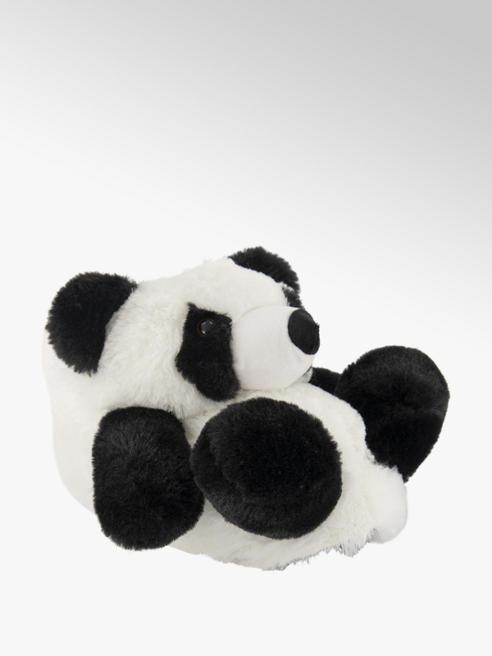 Casa mia Zwart witte panda pantoffel