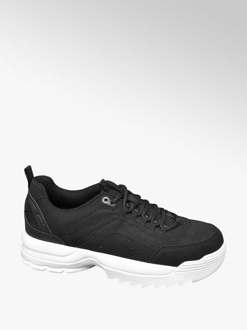 Graceland Zwarte chunky sneaker