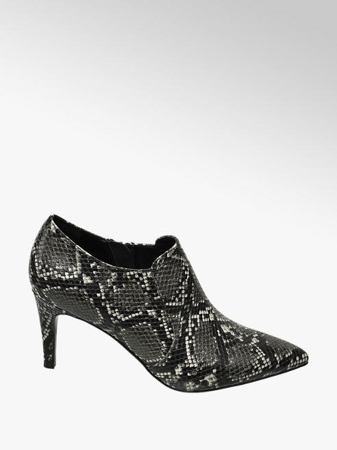 Star Collection Zwarte gesloten pump slangenprint