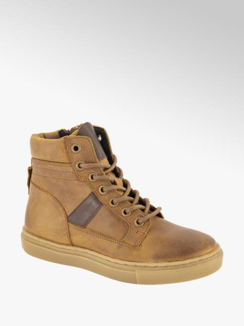 Victory Bruine leren hoge sneaker