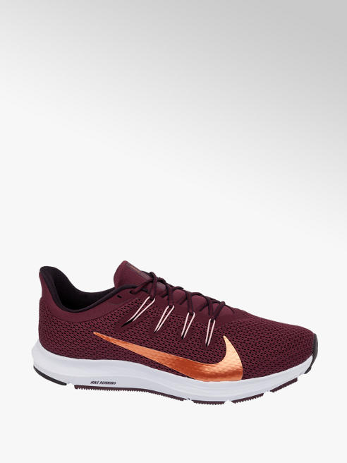 NIKE Ladies Nike Quest 2 Maroon Lace-up Trainers