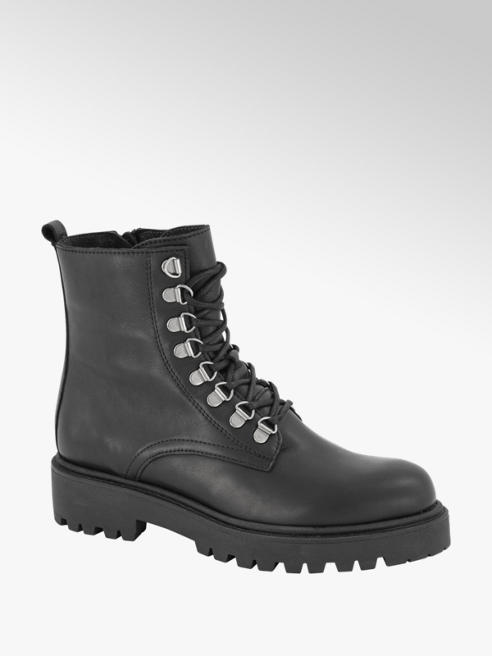 5th Avenue Zwarte leren veterboot