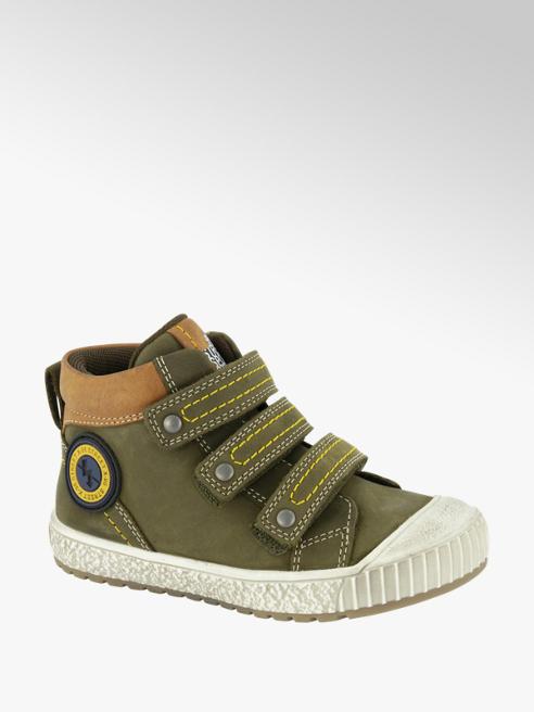 Bobbi-Shoes Groene leren boot klittenbandsluiting