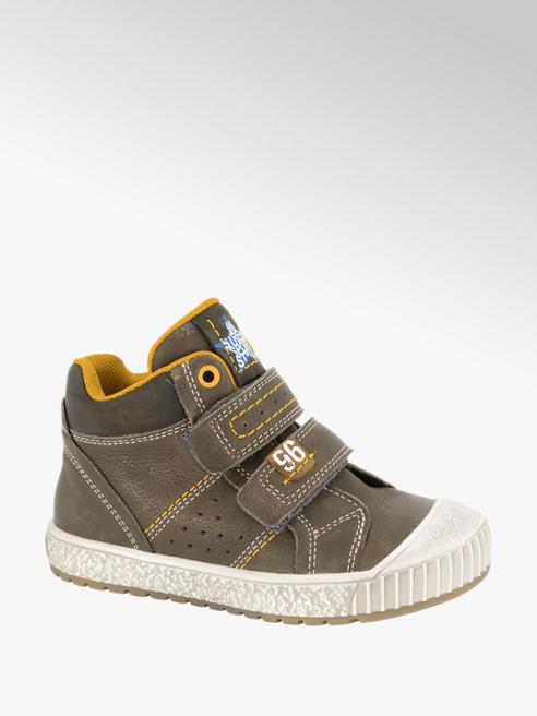 Bobbi-Shoes Grijze leren boot klittenbandsluiting