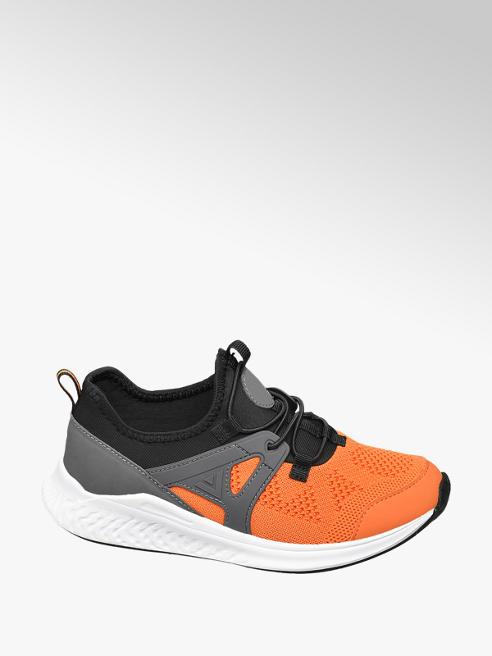 Oranje sneaker elastieksluiting