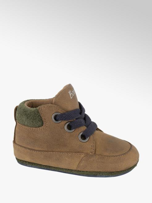 Bobbi-Shoes Bruine leren veterschoen