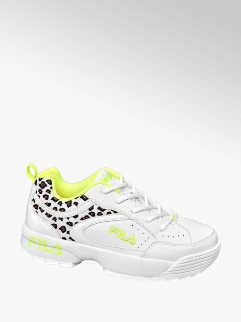 Fila Witte sneaker neon