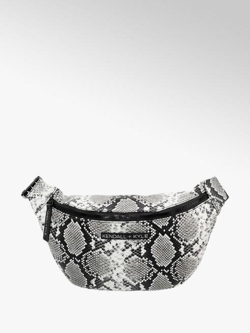 Zwart witte fannypack slangenprint