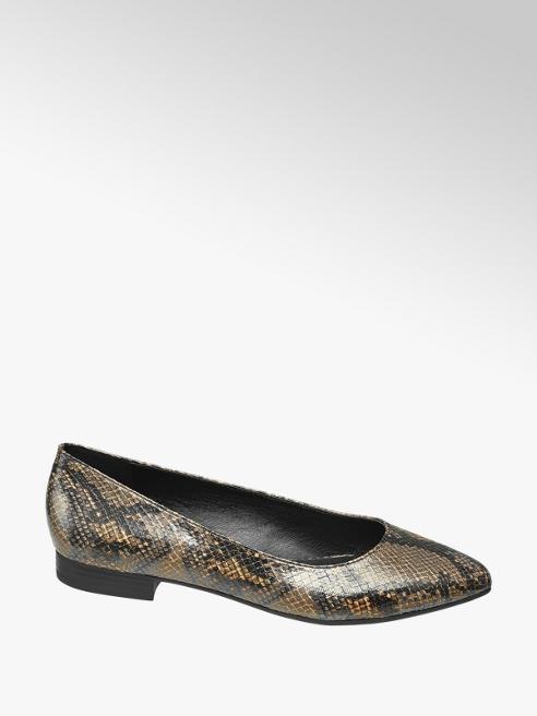 Graceland Bruine ballerina slangenprint
