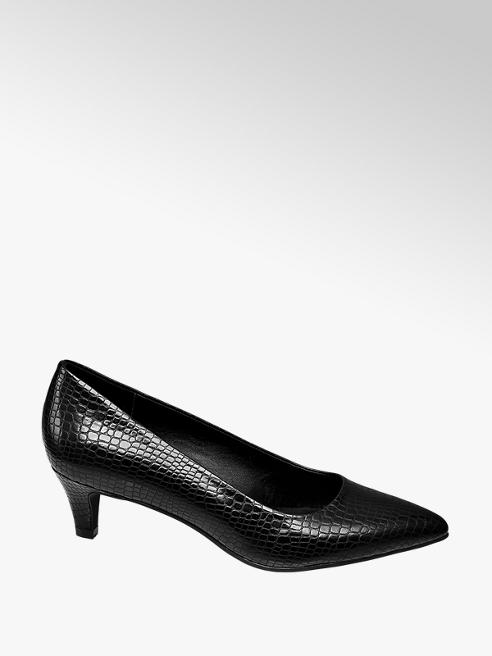 Graceland Zwarte pump crocoprint