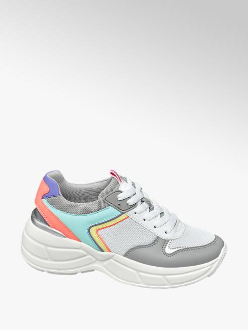 Graceland Witte chunky sneaker kleurdetails