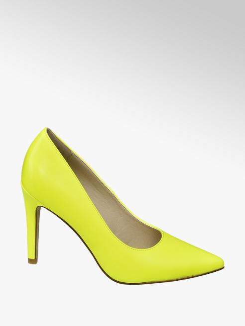 Graceland Neon gele pump spitse neus