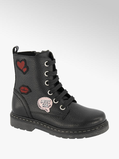Cupcake Couture Zwarte leren bikerboot patches