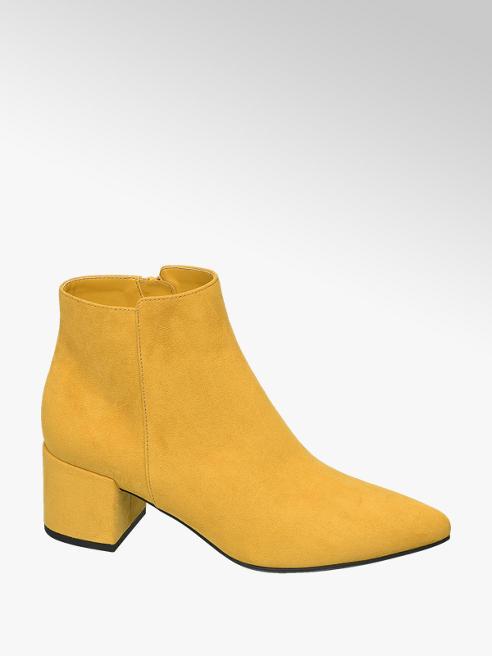 Graceland Gele enkellaars blokhak