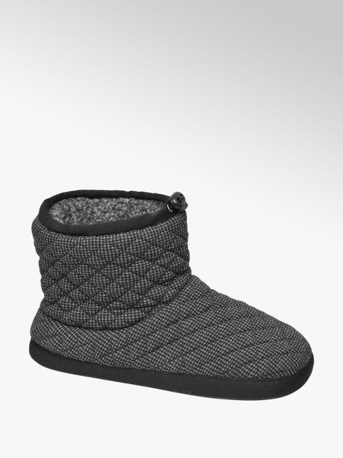 Casa mia Zwarte warm gevoerde pantoffel