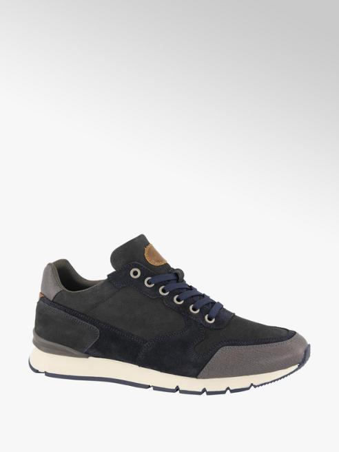 AM shoe Donkerblauwe leren sneaker