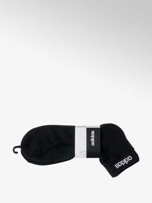 adidas Mens Adidas 3pk Black Socks 43-45