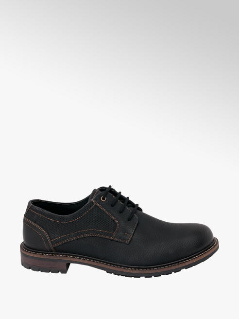 Memphis One Mens Memphis One Black Lace-up Shoes