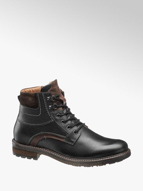 AM SHOE Mens Am Shoe Black Lace-up Boots