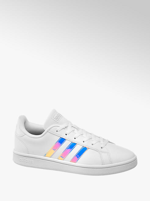 adidas Ladies Adidas Grand Court Base White Lace-up Trainers