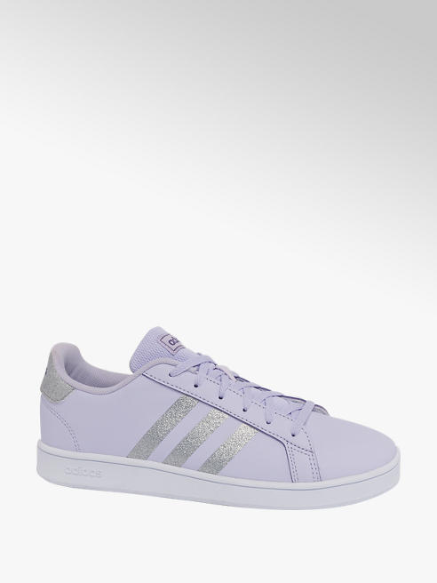 adidas Teen Girls Adidas Grand Court Lilac Lace-up Trainers