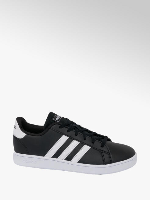 adidas Teen Adidas Grand Court Black Lace-up Trainers