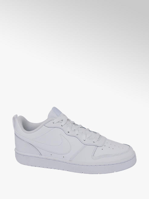 NIKE Teen Nike Court Borough Low White Lace-up Trainers