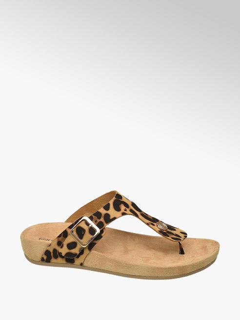 Graceland Panterprint slipper