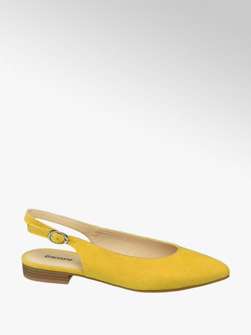 Graceland Oker gele ballerina slingback