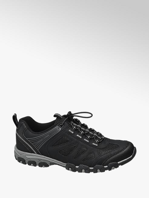 Landrover Zwarte wandelschoen elastische veter