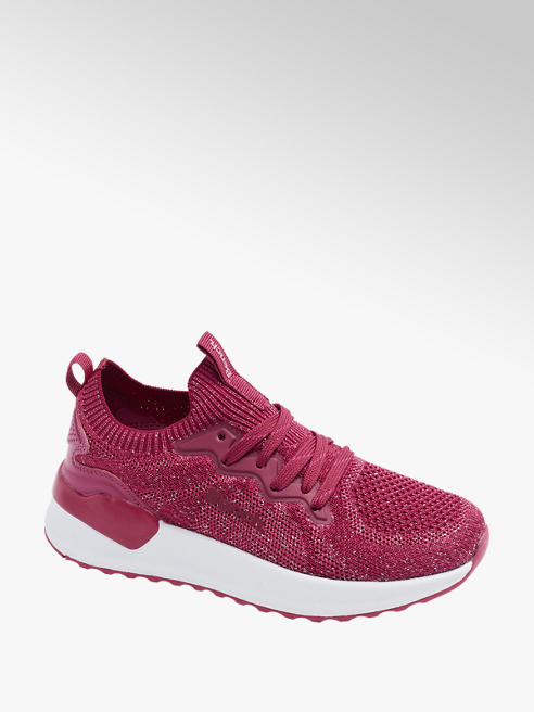 Junior Girls Pink Flyknit Bench Trainers
