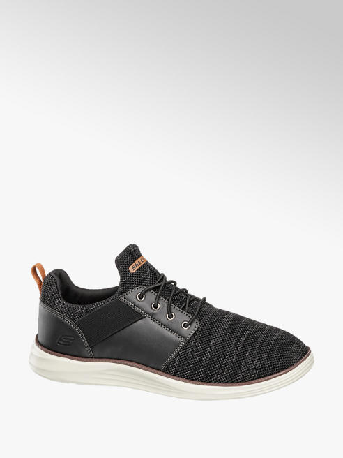 Skechers Mens Skechers Black Lace-up Trainers