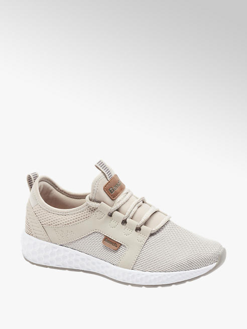 Bench Beige Lightweight Bench Lace Up Casual Trainers