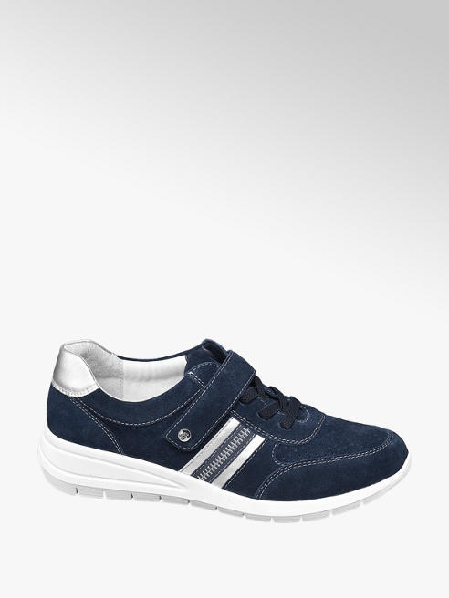 Medicus Donkerblauwe suède sneaker