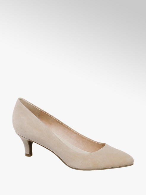 5th Avenue Beige Leather Court Heels