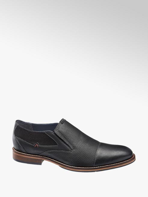 AM shoe Zwarte leren geklede instapper