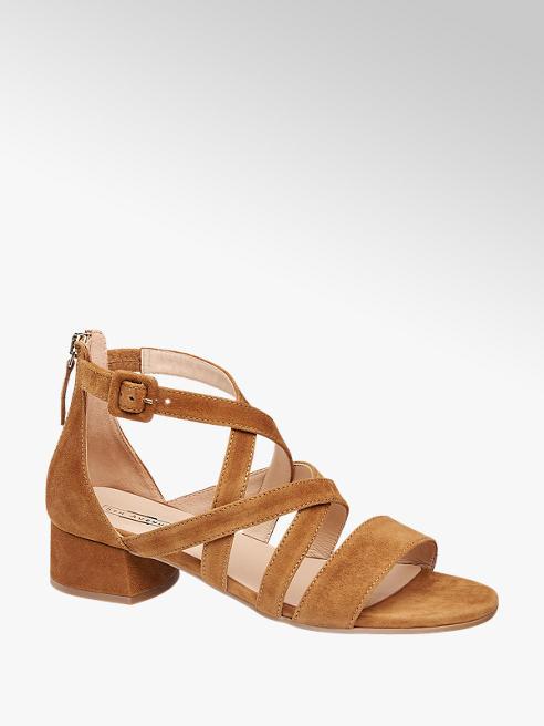 5th Avenue Cognac suède sandalette