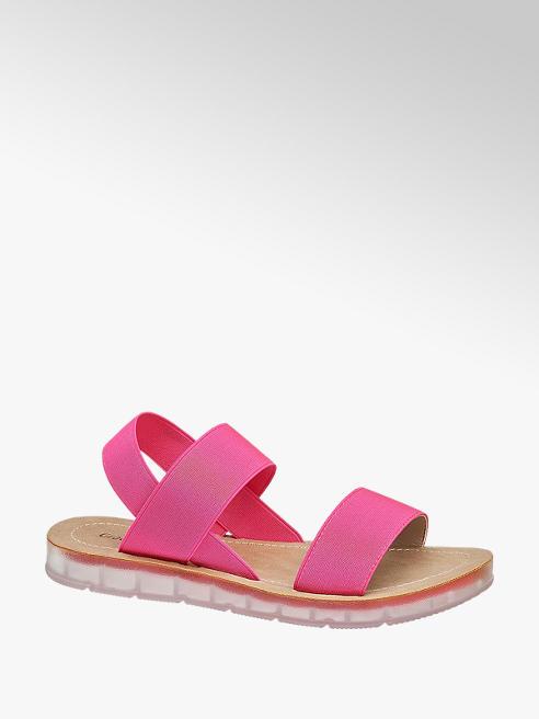 Graceland Fuchsia sandaal elastisch