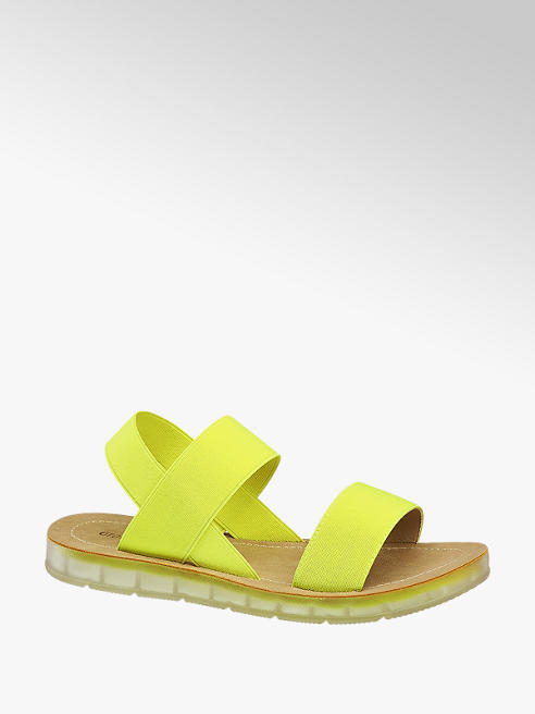 Graceland Gele sandaal elastisch