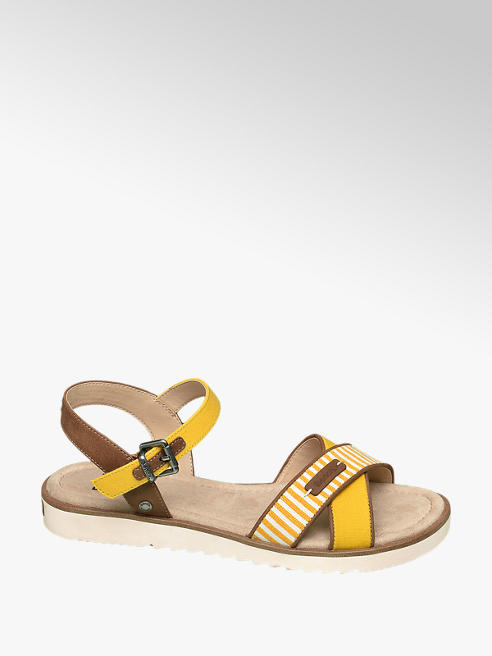 Bench Yellow Cross Strap Bench Sandals