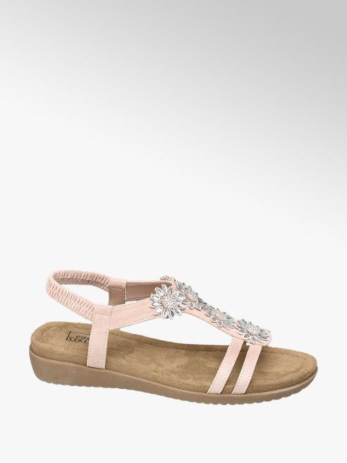 Björndal Roze sandaal bloemen