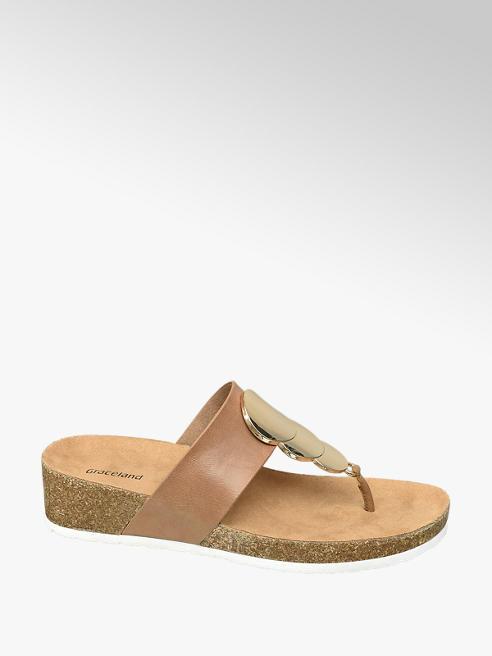 Graceland Bruine slipper